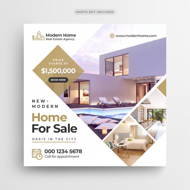 Plantilla para flyers inmobiliaria