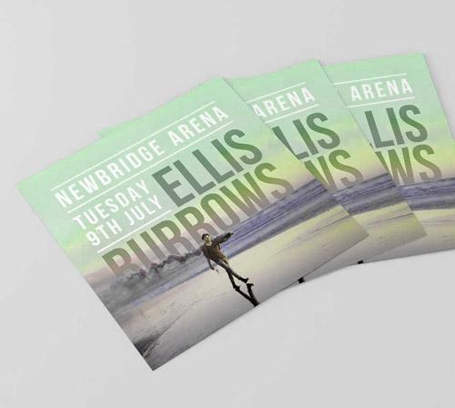 Impresión de flyers cuadrados