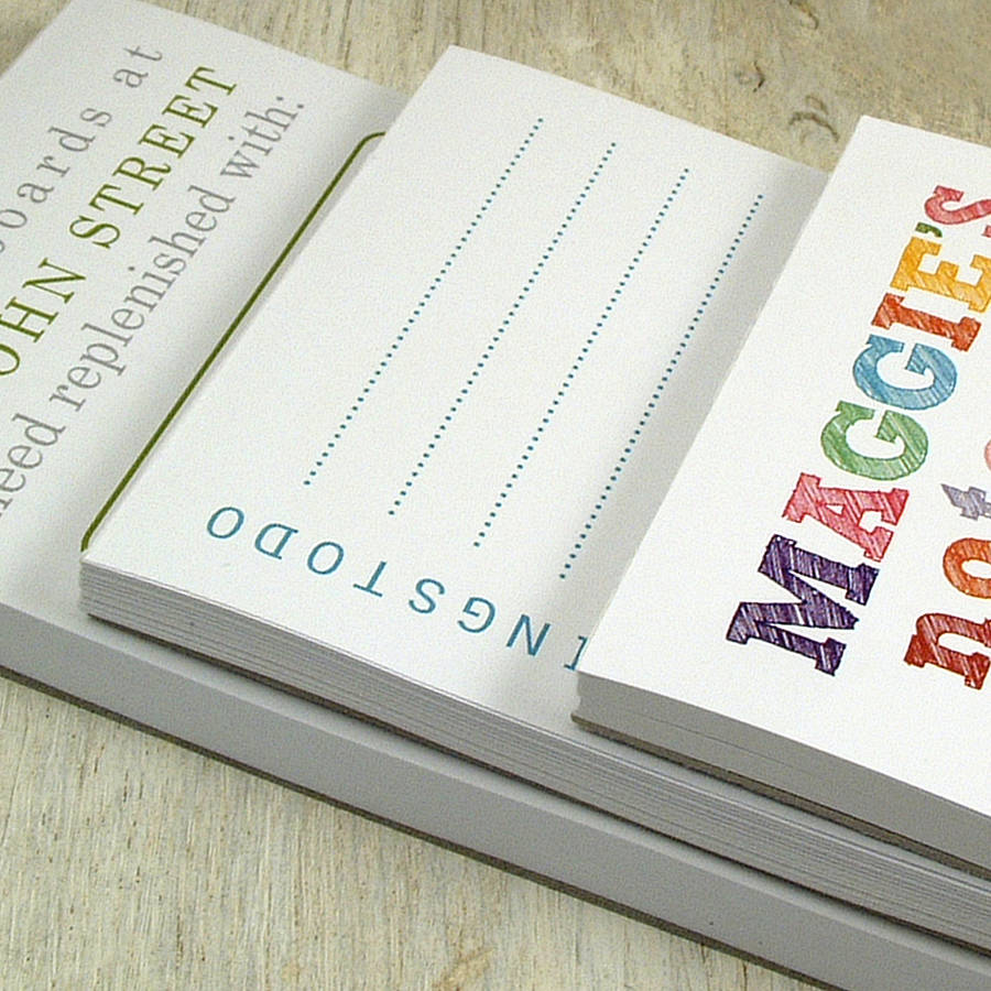 Imprimir Bloc de notas personalizado