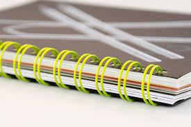 catálogos con encuadernación wire-o