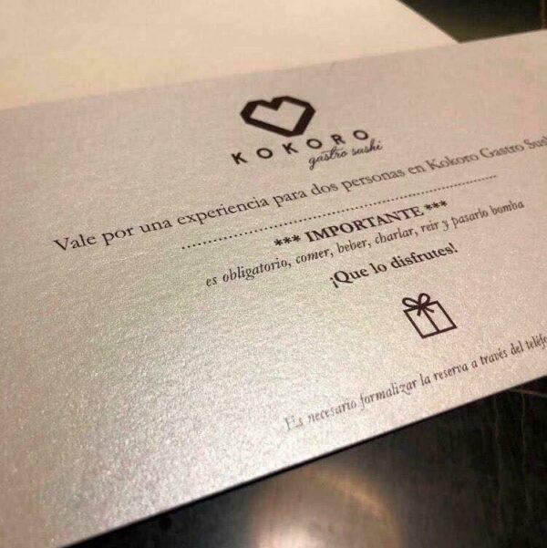 Imprimir Vales regalo personalizados
