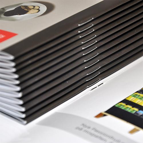 Imprimir catálogos grapados