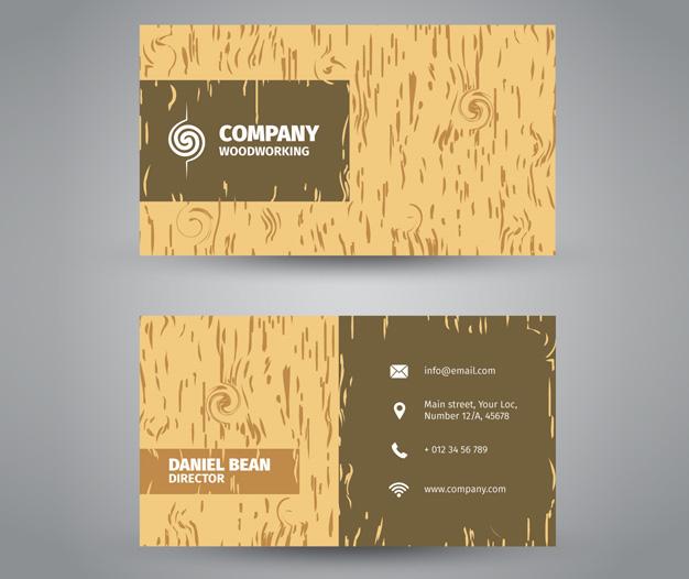 Imprimir diseño tarjeta de visita carpinteria