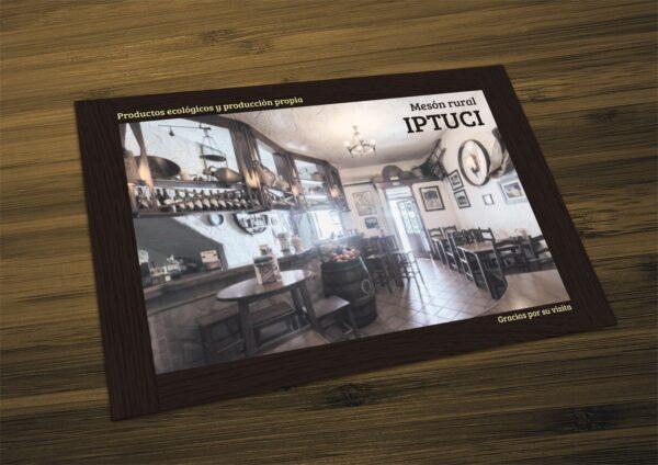 manteles individuales personalizados restaurante impresos