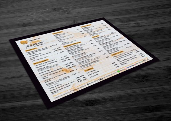 Imprimir manteles individuales personalizados restaurante