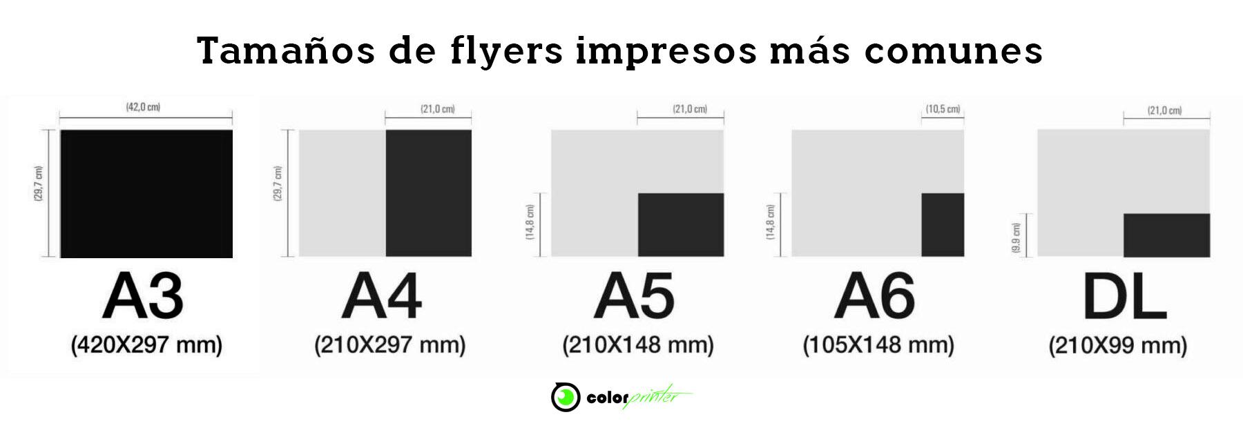 Medidas y tamaños de flyes impresos