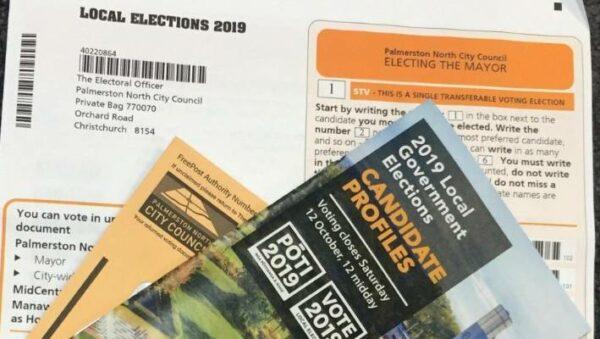 Papeletas electorales para elecciones