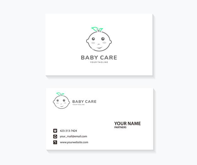 Plantilla de diseño cuidado infantil niñera