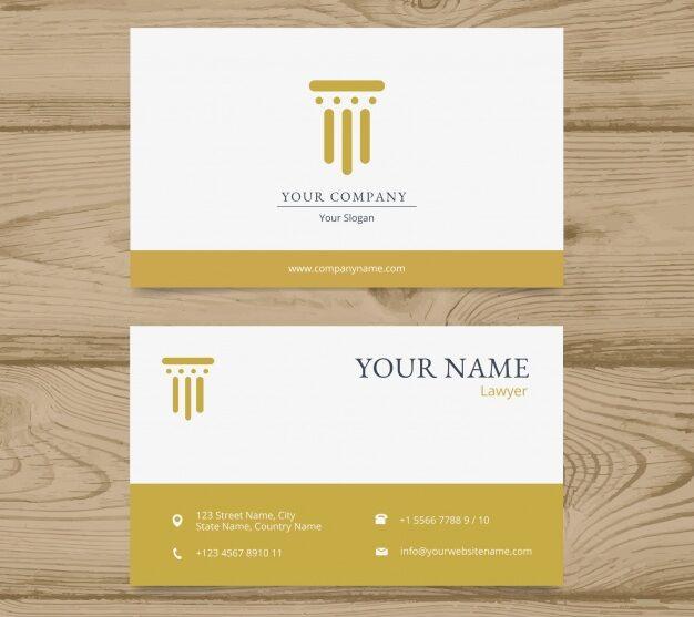 Plantilla de diseño para abogados tarjetas 10