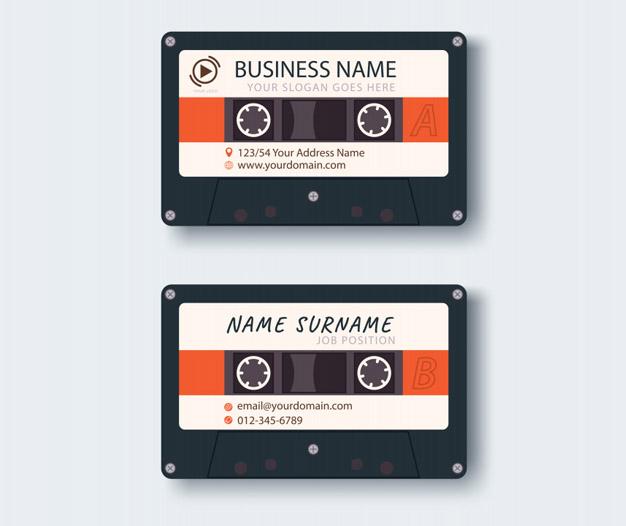 Plantilla de diseño para tarjetas de musico