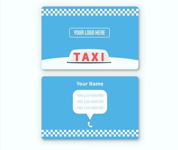 Plantilla de diseño para tarjetas de taxista