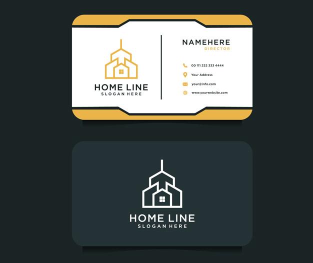 Plantilla de diseño para tarjetas de visita de construccion