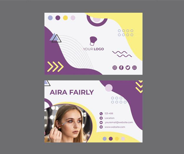 Plantilla de diseño para tarjetas maquilladores