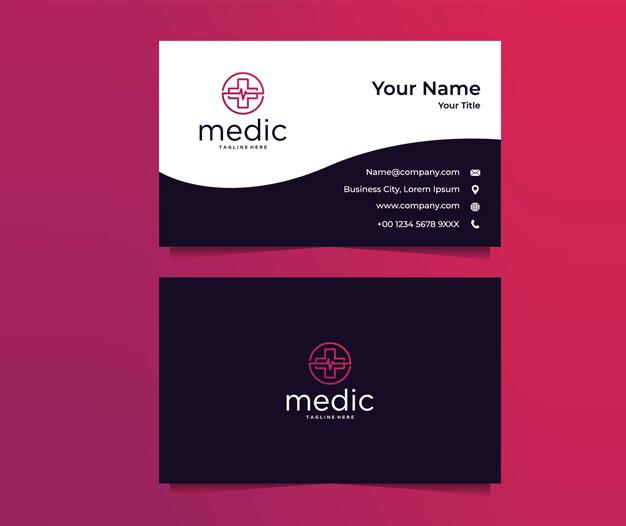 Plantilla de diseño para tarjetas profesionales de medicos