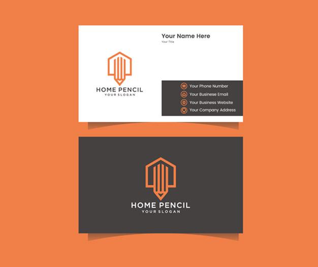 Plantilla de diseño tarjetas arquitectos