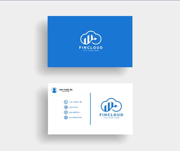 Plantilla de diseño tarjetas contabilidad
