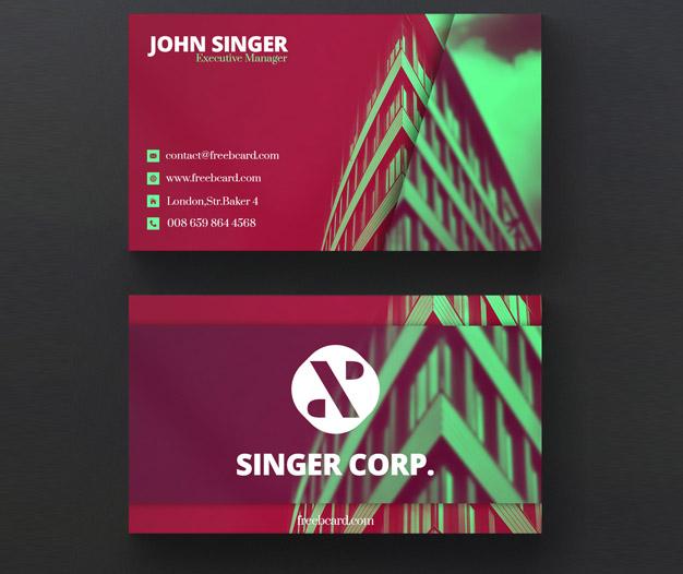 Plantilla de diseño tarjetas de negocios de construccion
