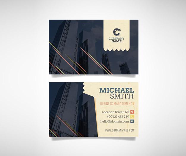 Plantilla de diseño tarjetas de visita de construccion