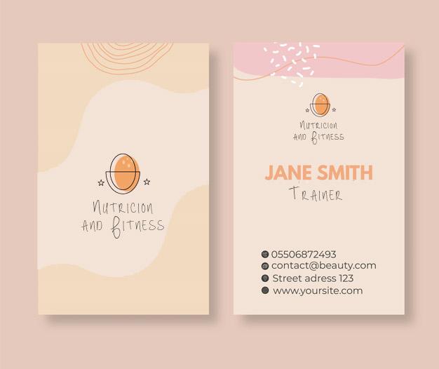 Plantilla de diseño tarjetas de visita nutricion y dietetica