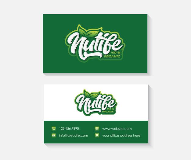 Plantilla de diseño tarjetas nutricionista