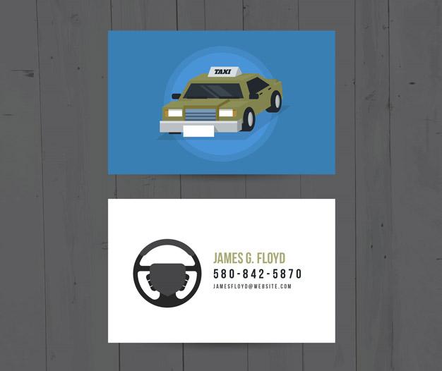Plantilla de diseño tarjetas para taxi