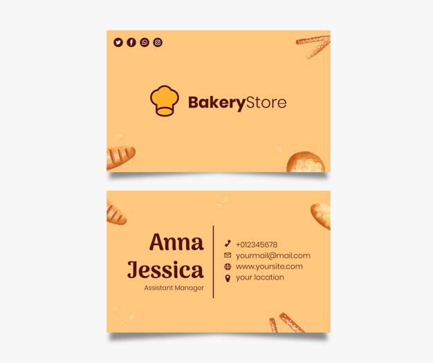 Plantilla de diseño tarjetas pasteleria