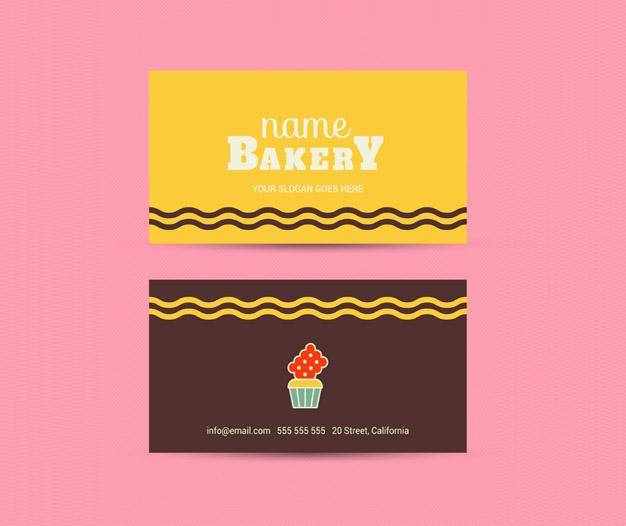 Plantilla de diseño tarjetas pasteleros