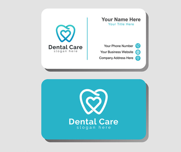 Plantilla de diseño tarjetas profesionales dentista 7