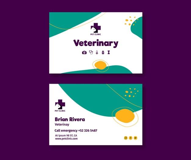Tarjetas de visita Veterinaria, Tarjetas de visita Veterinaria