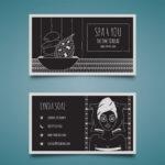 Plantilla de diseño Tarjetas de visita salon spa