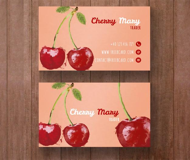 Plantilla de tarjetas nutricion y dietetica