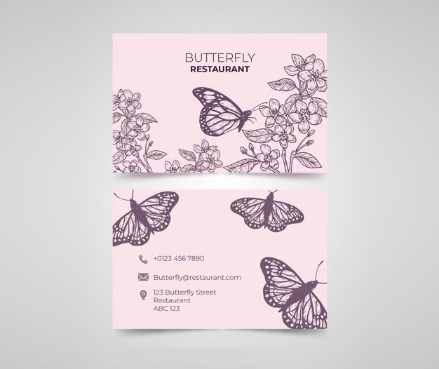Plantilla de tarjetas profesionales restaurantes