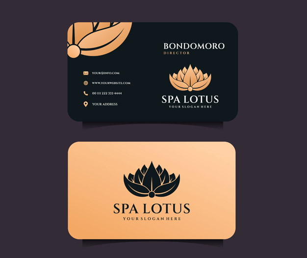 Plantilla diseño de tarjetas profesionales spa