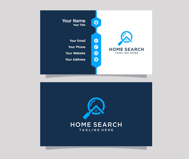 Plantilla diseño tarjetas de inmobiliaria