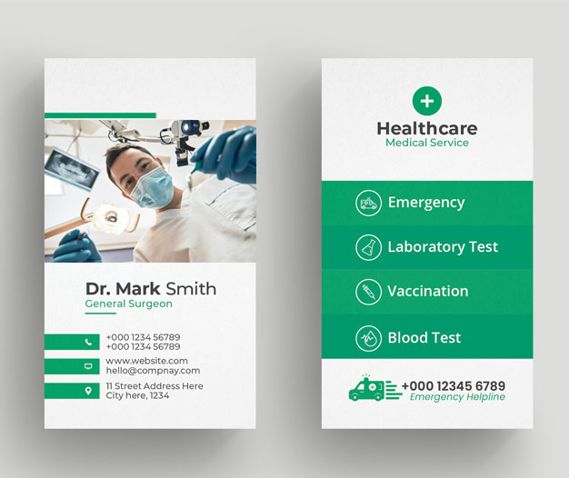 Plantilla diseño tarjetas de visita dentistas 2