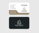 Plantilla diseño tarjetas de visita inmobiliaria