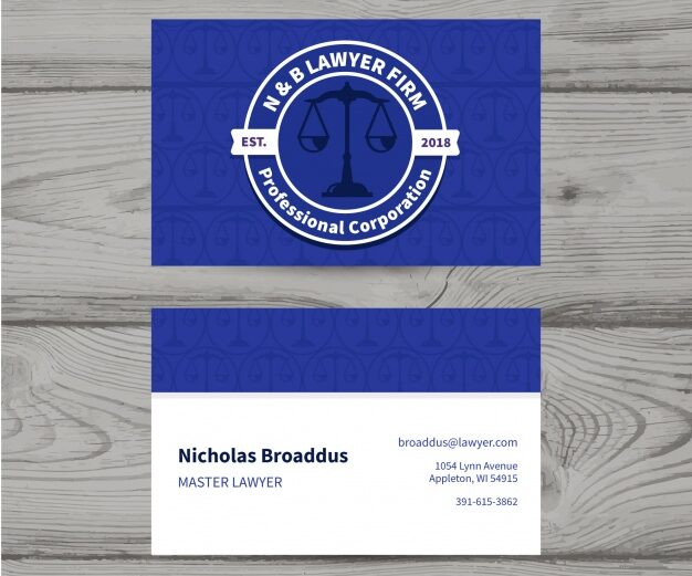 Plantilla diseño tarjetas de visita para abogados 3