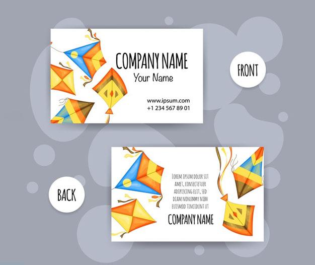 Plantilla diseño tarjetas infantiles