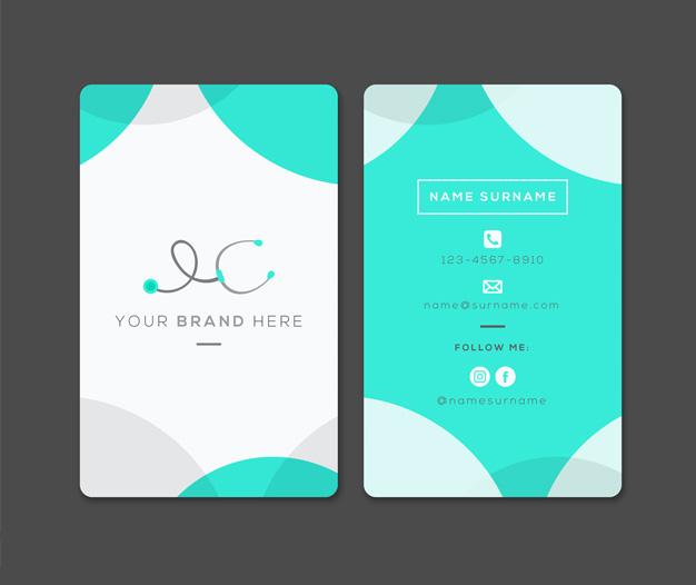 Plantilla diseño tarjetas para medicos