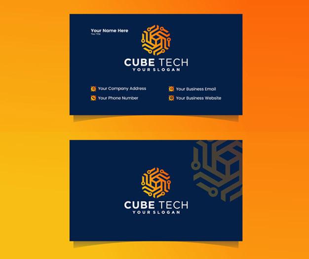 Plantilla diseño tarjetas presentacion informaticos