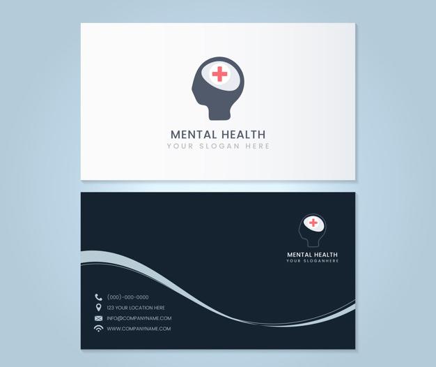 Plantilla diseño tarjetas psicologos