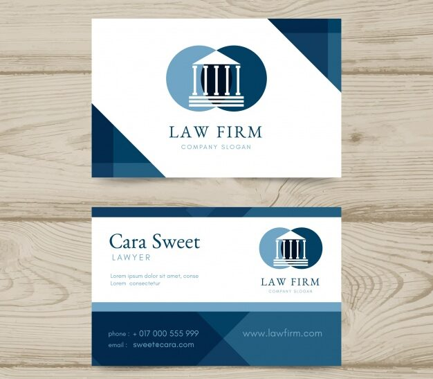 Plantilla para tarjetas de visita de abogados 11