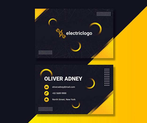 Tarjetas de presentación Electricista, Tarjetas Electricista