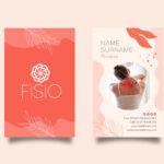 Plantilla para tarjetas de visita fisioterapia