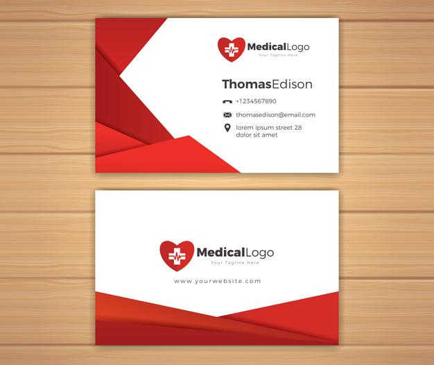 Plantilla para tarjetas de visita medicos