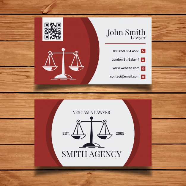Plantilla tarjeta de visita abogado 1