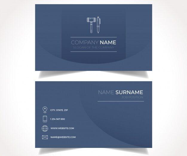 Plantilla tarjetas de presentación abogada