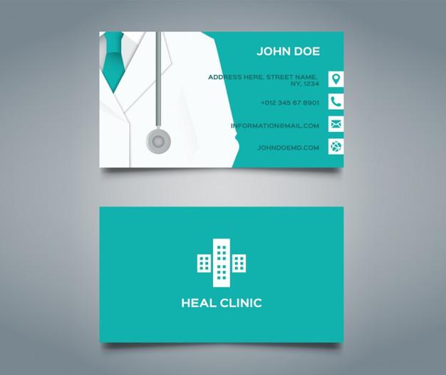 Plantilla tarjetas de visita medicos