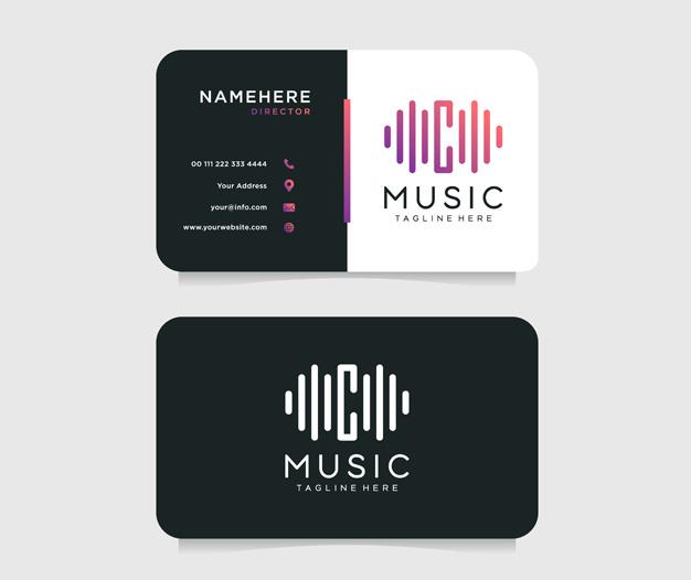 Plantilla tarjetas de visita musicos