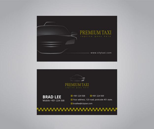 Plantilla tarjetas de visita taxista